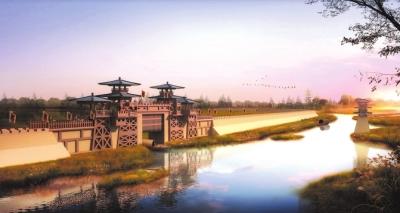 荆州风景图片手绘